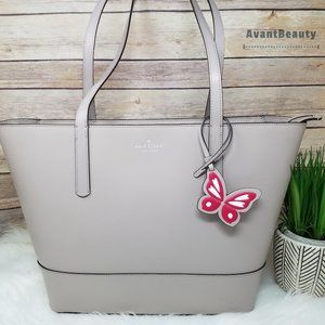 Kate Spade Adley New Taupe Shoulder Tote Butterfly